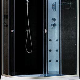 Души и душевые кабины - Душевая кабина, Aquapulse, 120*80*220, 3106В grey black L/R, ассиметричная, 0