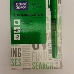 Канцелярские принадлежности - Текстовыделители Office Space в коробке 12шт.двух цветов зелёный и оранжевый))) , 0