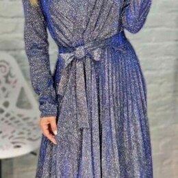 Платья - Длинное вечернее платье с люрексом р-ры 46-56, 0