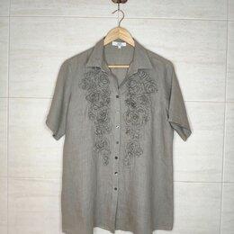 Блузки и кофточки - Рубашка жен. Бохо стиль, 100% Лен, Италия, 0