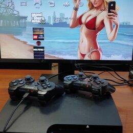 Игровые приставки - Sony Playstation 3 Slim на 320b,Прошита +30 игр, 0
