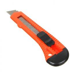 Пилы, ножовки, лобзики - Нож универсальный пластиковый с сегментированным  лезвием 18мм (квадр. фик..., 0