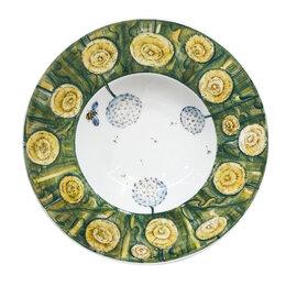 Декоративная посуда - Юлиана Косихина Гжельский фарфоровый завод Тарелка для пасты Фасон в росписи ..., 0