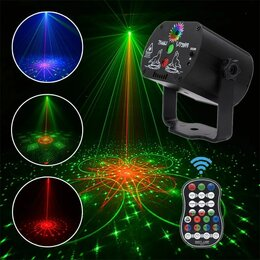 Прожекторы - Лазерный rgb светодиодный проектор с пультом, 0