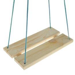Качели - Качели подвесные, деревянные, сиденье 40×22см, 0