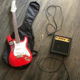 Электрогитары и бас-гитары - Комплект электрогитара и комбик, 0