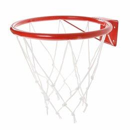 Стойки и кольца - Новое кольцо баскетбольное 295 мм с упором сеткой, 0