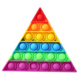 Игрушки-антистресс - POP IT Игрушка-антистресс треугольник (цветной), 0