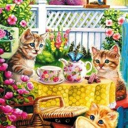 """Рукоделие, поделки и сопутствующие товары - Алмазная мозаика """"Смешные котята"""" размер 40/50, 0"""