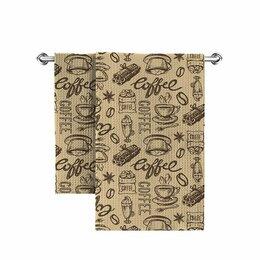Полотенца - Полотенце кухонное вафельное набивное, 0