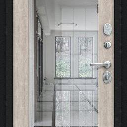 Входные двери - Дверь входная Флэш 119.Б15 NEW Букле черное/Cappuccino Veralinga, 0