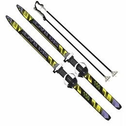 """Беговые лыжи - Лыжи подростковые """"ski race"""" с палками (150/110 см), 0"""