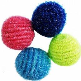 Игрушки - Уют Мяч-погремушка с люрексом  снежок ,4 см, 0