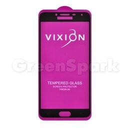 Защитные пленки и стекла - Защитное стекло 6D для Samsung J400F Galaxy J4 (2018) (черный) (VIXION), 0