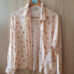 Блузки и кофточки - Рубашка с принтом женская, 0