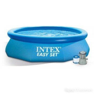 Бассейн Easy Set + фильтр-насос 220В (28122) по цене 9189₽ - Бассейны, фото 0