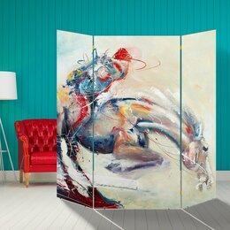 """Ширмы - Ширма """"Скачки"""", 160 × 160 см, 0"""