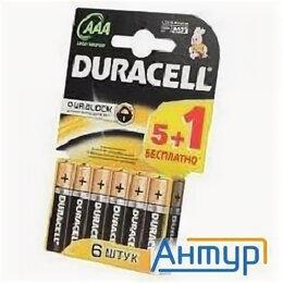 Батарейки - Duracell Lr03-6bl Basic (промо 5+1),  6 Aaa (6 шт. в уп-ке), 0