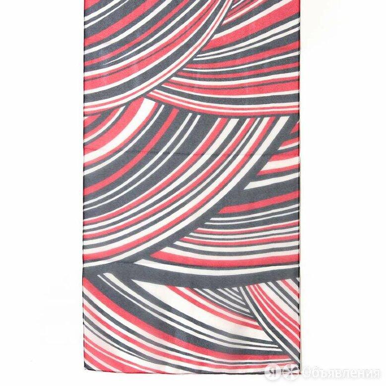 Стильный женский красно-бело-синий шарф 38830 по цене 1300₽ - Шарфы и платки, фото 0
