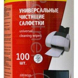 Чистящие принадлежности - Салфетки Silwerhof 671213 универсальные туба 100шт влажных, 0