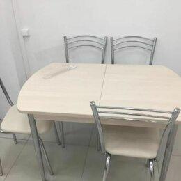 Столы и столики - Комплект обеденной Сити /хром (стол, 4 стула), 0
