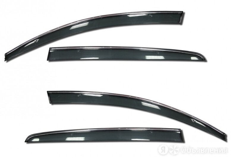 Дефлекторы боковых окон накл. PRADAR Hyundai Solaris/Verna 10- 4 шт.с хром.по... по цене 2050₽ - Прочие аксессуары , фото 0
