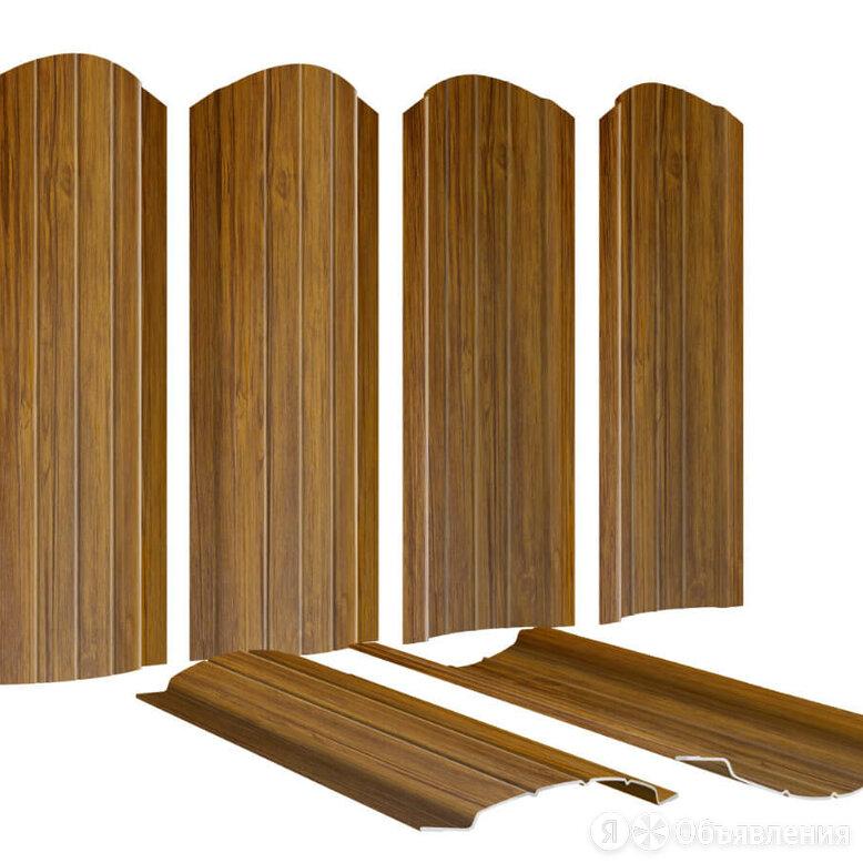 Штакетник металлический Полукруглый 110мм под дерево Орех 2-х сторонний Prin... по цене 243₽ - Заборы, ворота и элементы, фото 0