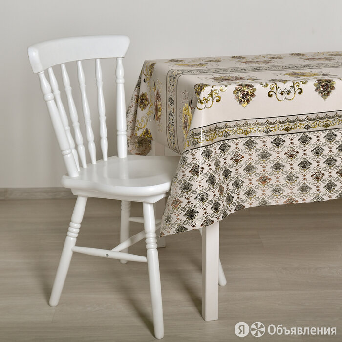 Клеёнка столовая на ткани, ширина 137 см, толщина 0,25 мм, рулон 20 метров по цене 6749₽ - Скатерти и салфетки, фото 0