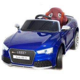 Электромобили - Детский электромобиль Audi Rs 5 синяя, 0
