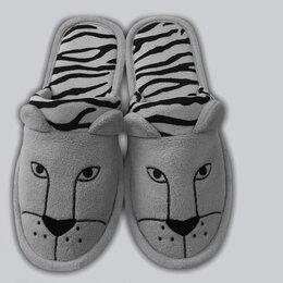 """Дизайн, изготовление и реставрация товаров - Мужские тапочки """"Тигры"""" флис, 0"""