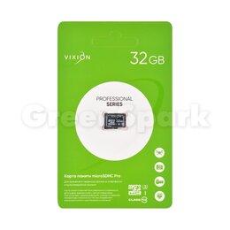 Карты памяти - Карта памяти MicroSDHC Pro 32GB VIXION Class 10 UHS-I U3 без адаптера , 0