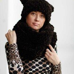 Шарфы, платки и воротники - Soft and warm. Шикарный комплект: шарф-палантин и шапка-трансформер., 0