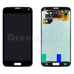 Дисплеи и тачскрины - Дисплей для Samsung G900 Galaxy S5 + тачскрин (черный) (copy LCD), 0
