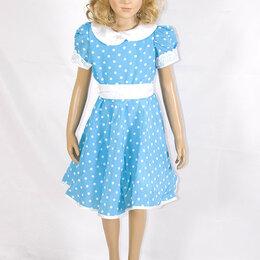 Платья - Платье для танцев голубое Горох  МХ-КС122.1, 0
