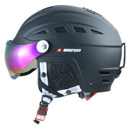 Спортивная защита - Шлем г/л Brenda, с визором черный матовый цвет, 0