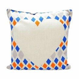 Декоративные подушки - Подушка льняная Геометрические фигуры, 0