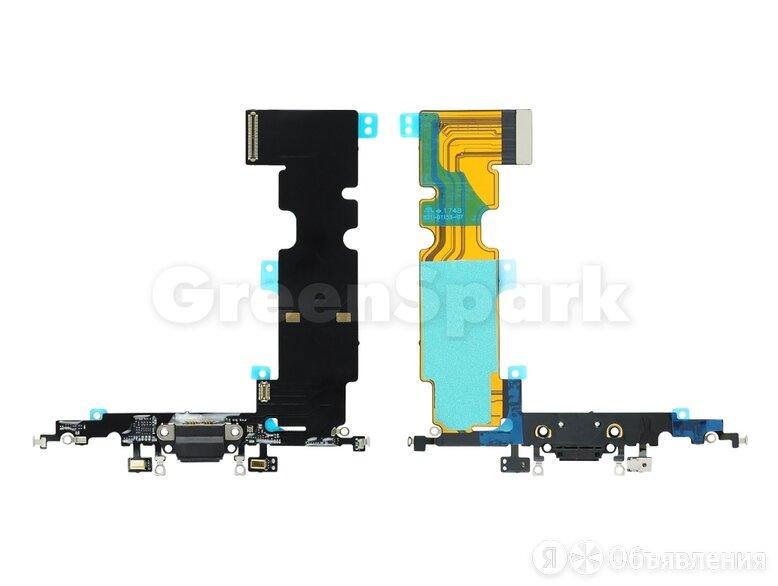 Шлейф для iPhone 8 Plus + разъем зарядки (черный)  по цене 370₽ - Прочие запасные части, фото 0