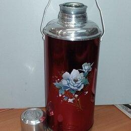 Термосы и термокружки - Термос китайский со стеклянной колбой 3,2 л, 0