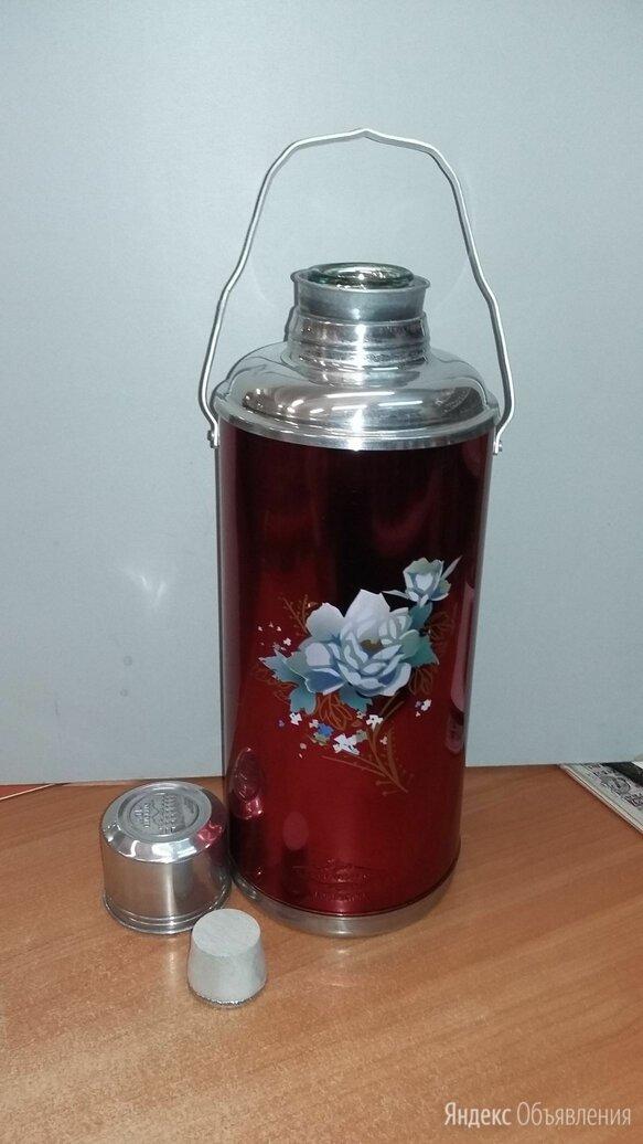 Термос китайский со стеклянной колбой 3,2 л по цене 1020₽ - Термосы и термокружки, фото 0