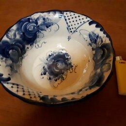 Декоративная посуда - Гжель, Тарелка, СССР, Клеймо 1, 0
