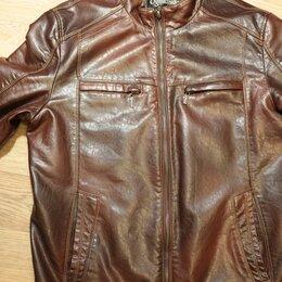 Куртки - Куртка кожаная Ogmando, цвет каштановый, размер 48, 0