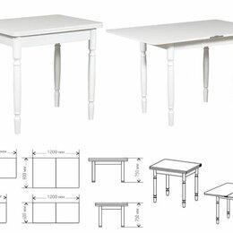 Столы и столики - Стол обеденный белый раскладной. 80х60(+60), 0