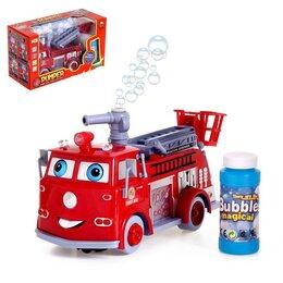 Мыльные пузыри - Машина «Пожарная служба» с мыльными пузырями, работает от батареек, световые ..., 0