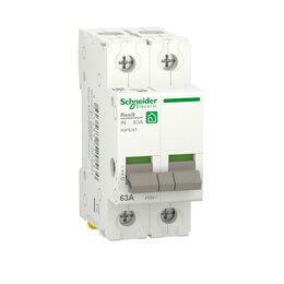 Электроустановочные изделия - SE RESI9 Выключатель нагрузки (мод. рубильник) 63А 2П R9PS263 RESI9 Schneider..., 0
