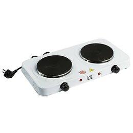 Плиты и варочные панели - Плитка электрическая Irit IR-8008, 2000 Вт, 2 конфорки, белая 191533, 0