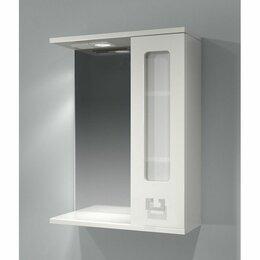 Зеркала - Какса Зеркало шкаф Какса Витраж 55 правый с подсветкой, 0