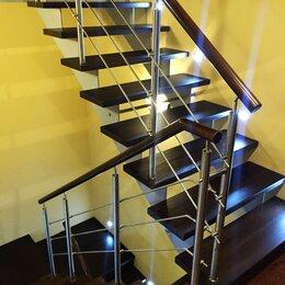 Лестницы и элементы лестниц - Лестницы на косоурах и нержавеющие перила, 0
