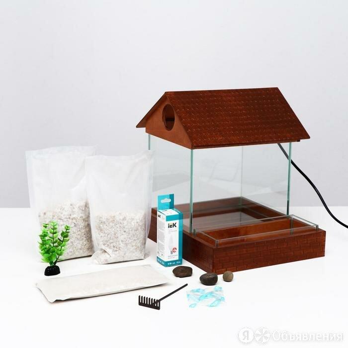 Аквариум с ёмкостью для растений 7,6 л, 30 x 30 x 27 см орех по цене 5208₽ - Аквариумные рыбки, фото 0