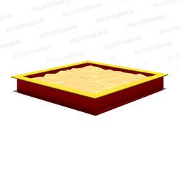 Песочницы - Песочницы ROMANA Песочница 2000 х 2000 (красный/желтый), 0