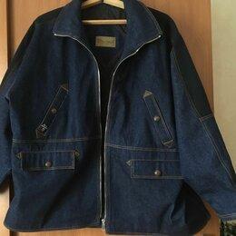 Куртки - Джинсовая мужская куртка утеплённая демисезон 72р, 0